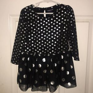 NWT Limited Too Black Heart Tulle Dress 4T $36
